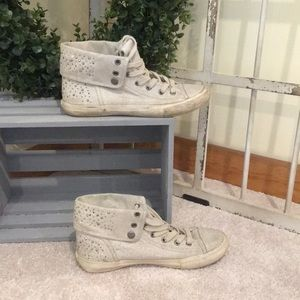 High top jeweled Aldo sneakers size 8